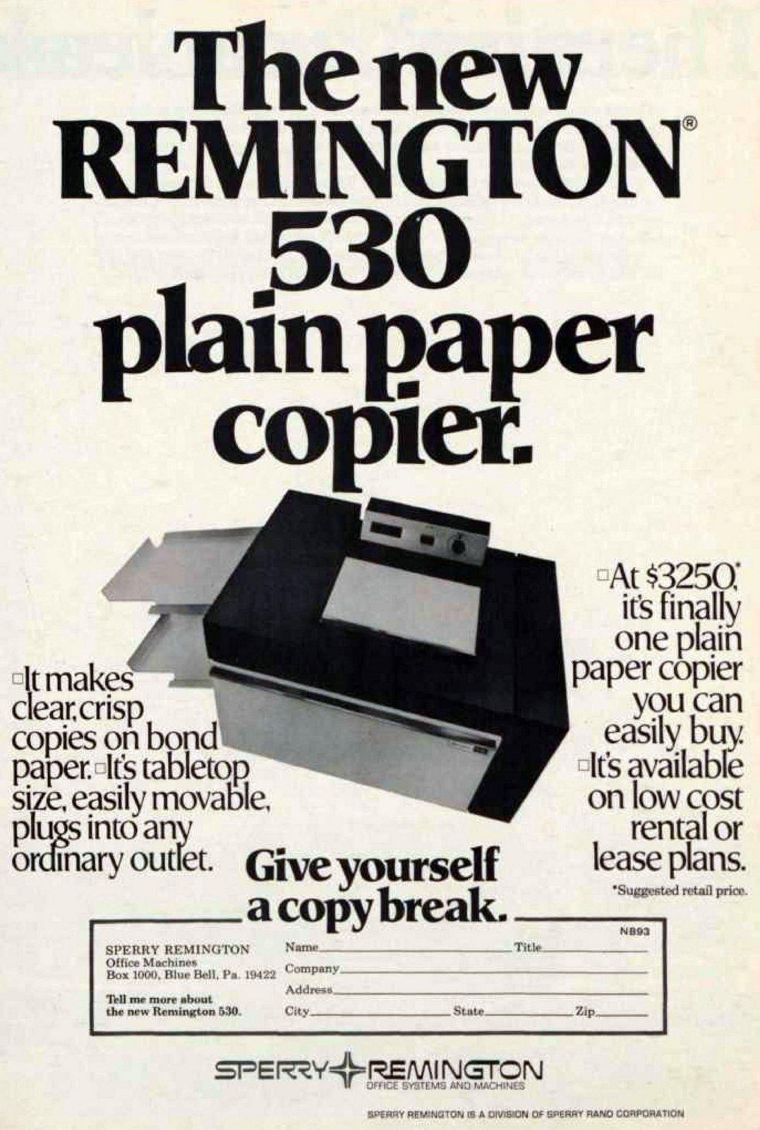 Remington Plain Paper Copier (1973)