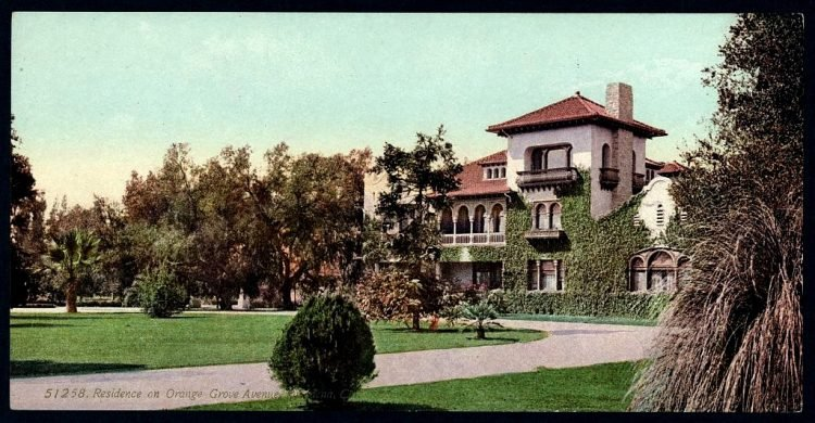 Residence on Orange Grove Avenue, Pasadena, California