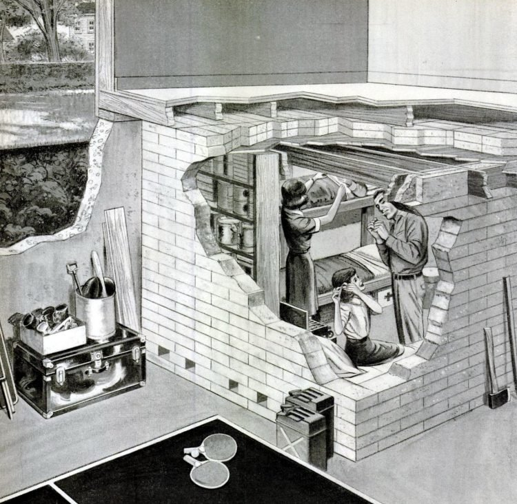 Residential basement fallout shelter from the 60s