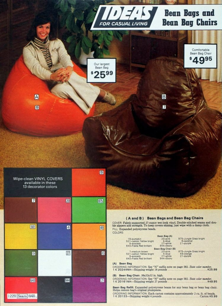 Reto '70s bean bags for adults (1)