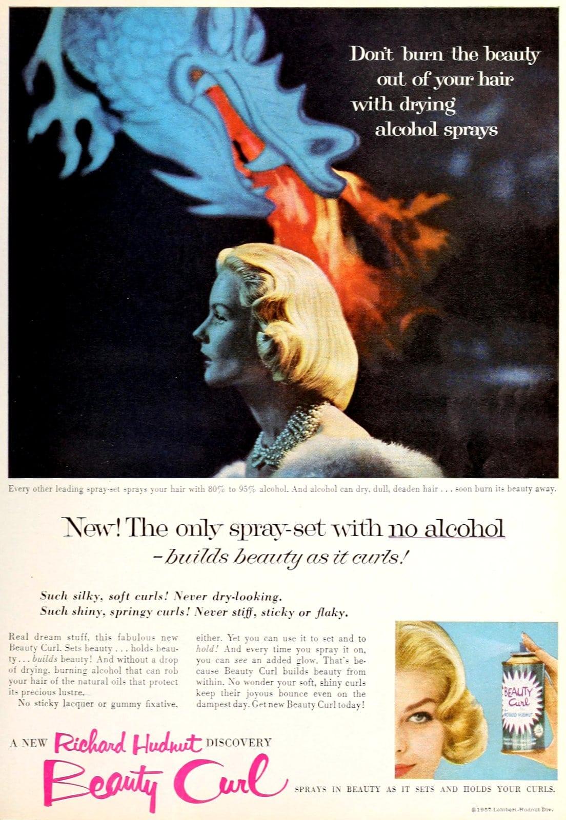 Retro 1950s hairspray brands - Richard Hudnut Beauty Curl