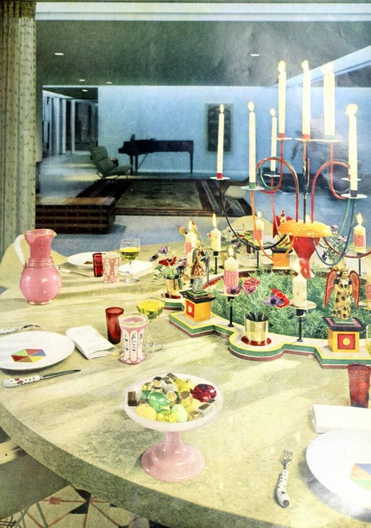Retro 1950s inspiration for setting the table (3)