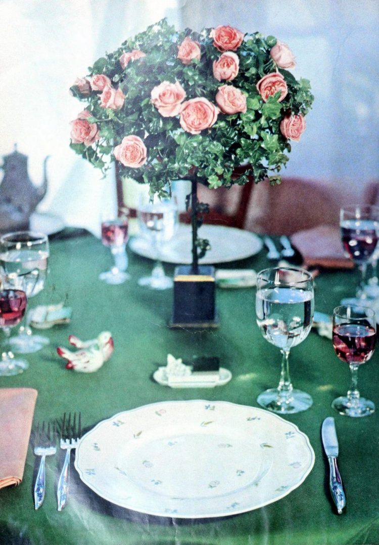 Retro 1950s inspiration for setting the table (4)