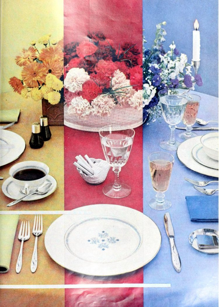 Retro 1950s inspiration for setting the table (5)