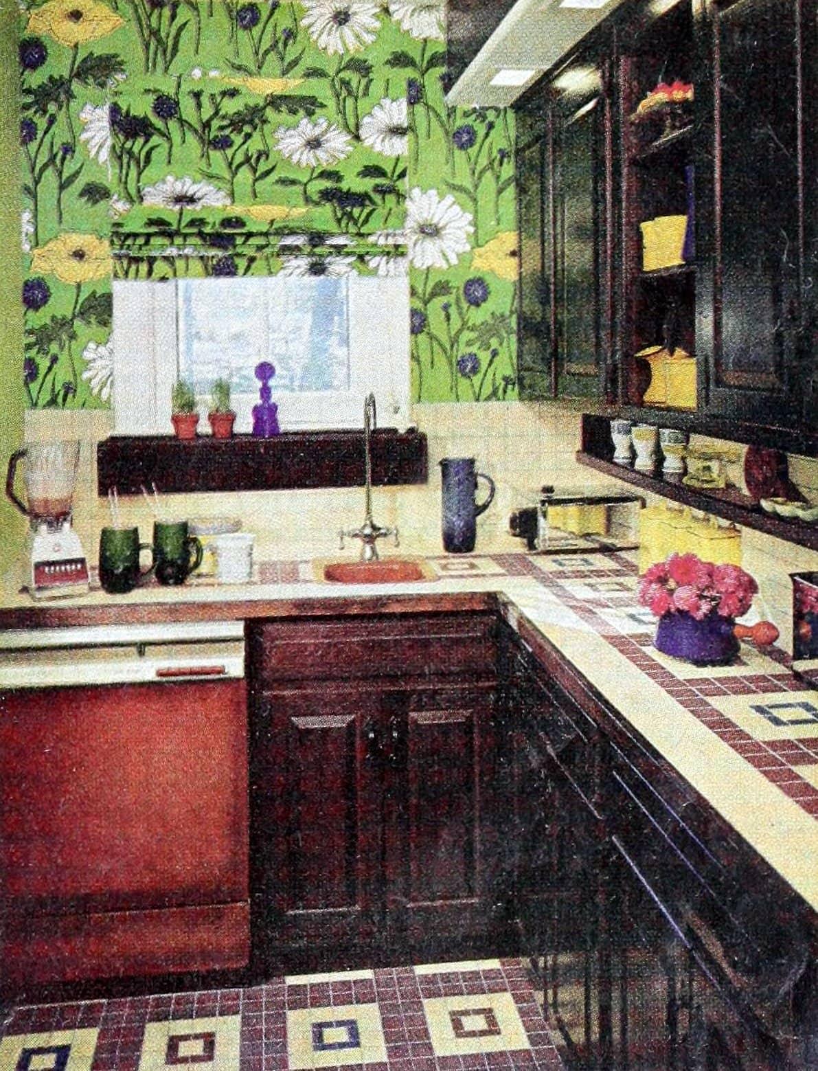 Retro 1967 kitchen tile decor