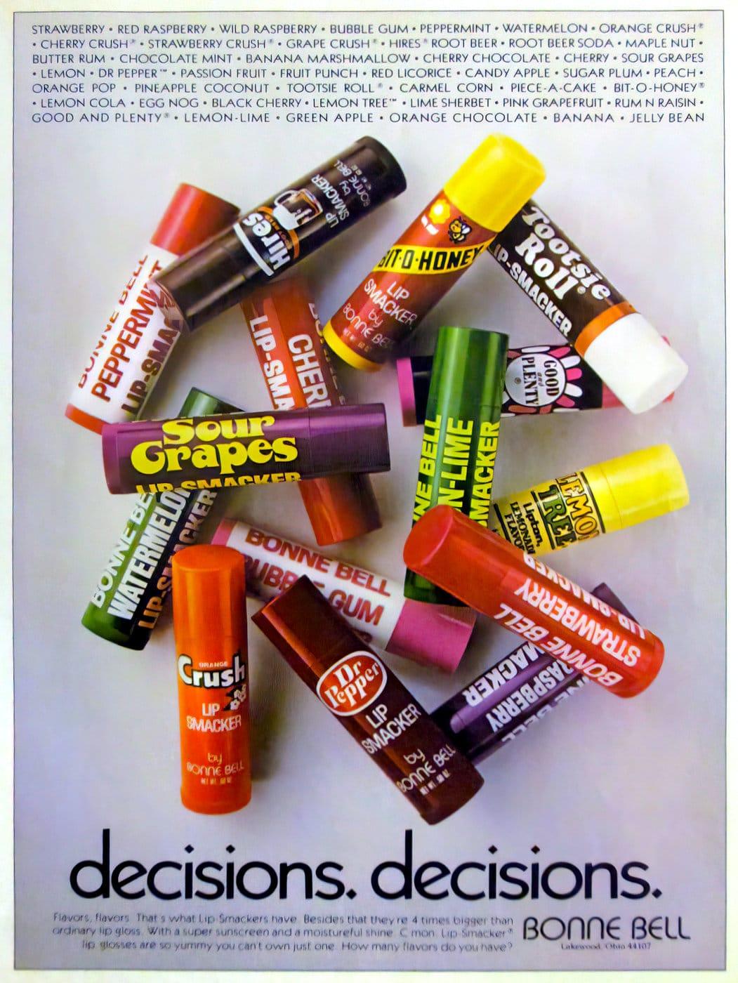 Retro 1980s Lip Smacker flavors