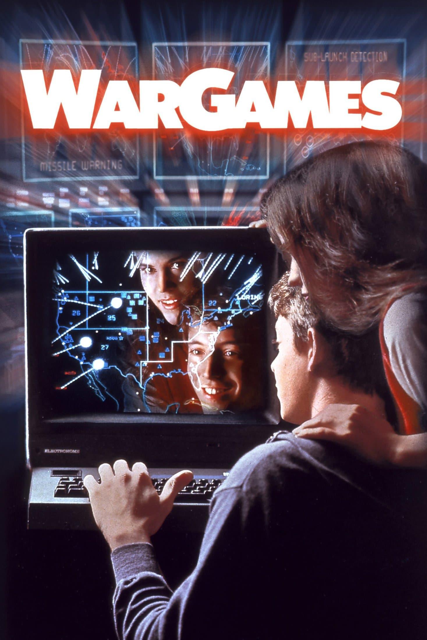Retro 1980s War Games movie poster