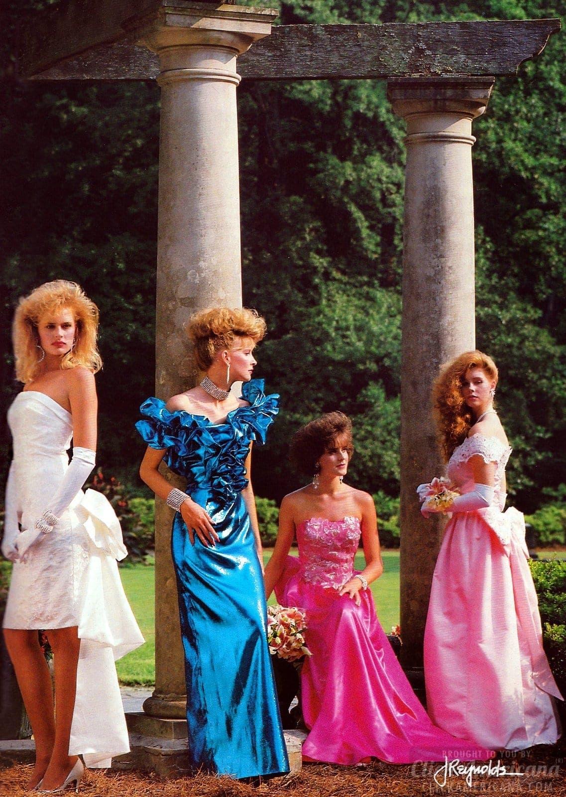 Retro 1988 prom dresses
