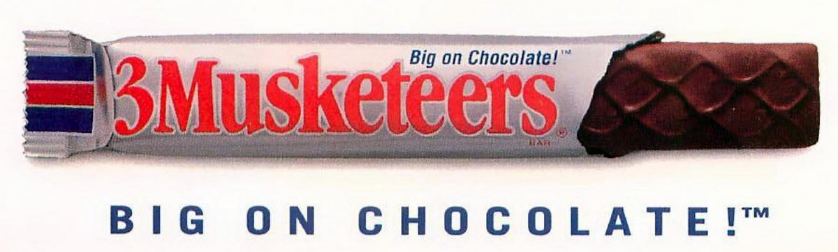 Retro 3Musketeers candy bar (1993)