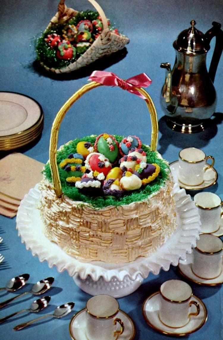 Retro 60s Easter Basket cake idea