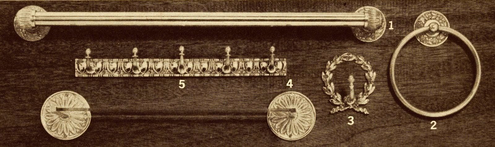 Retro 60s doorknobs, handles and pulls (1965)
