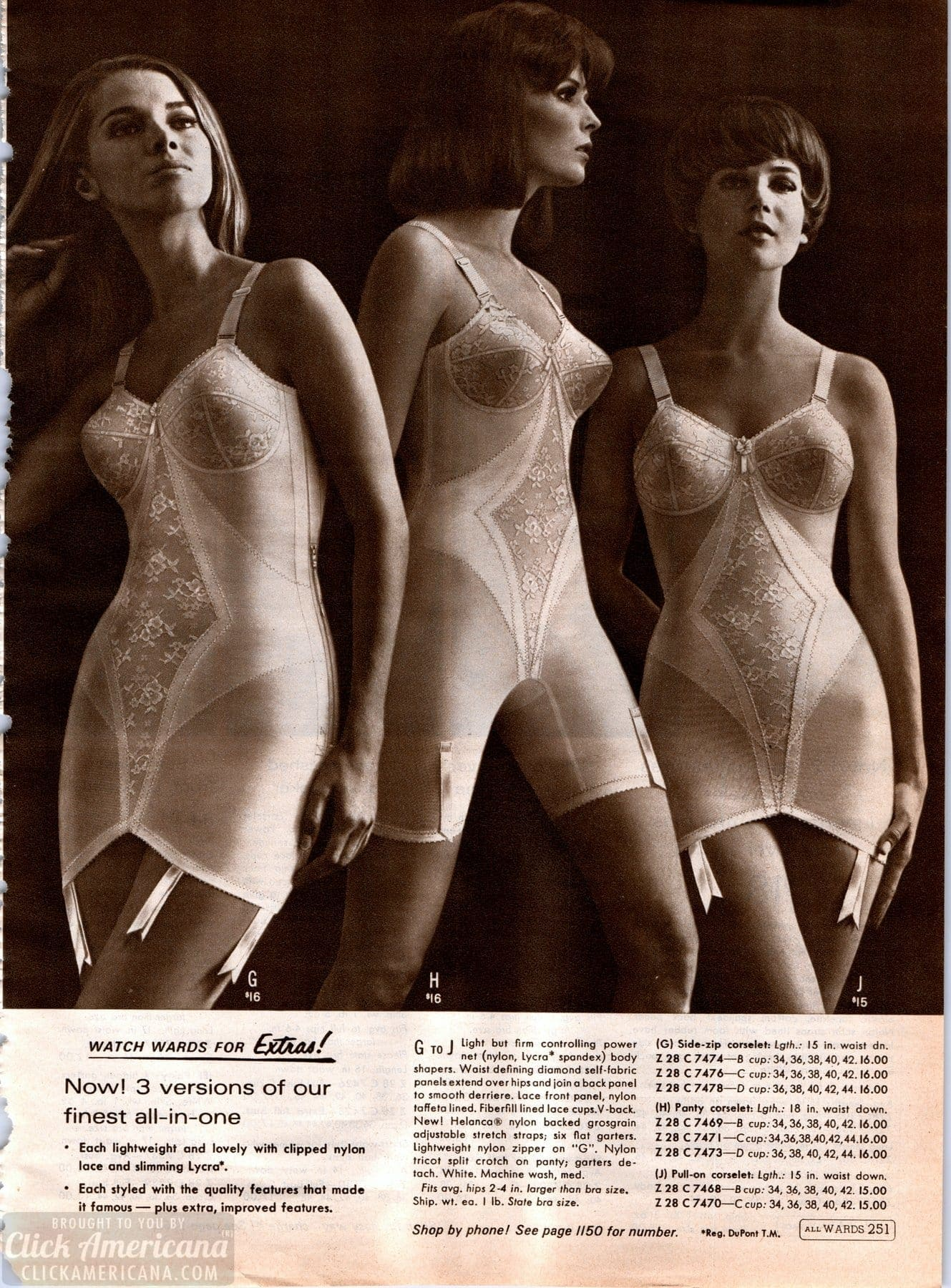 bd4aa02604c Retro  60s lingerie - corselets foundation garments - Click Americana