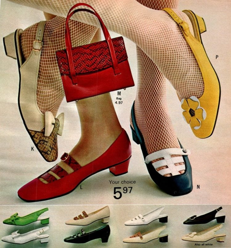 Retro '60s shoes for women from the 1968 Wards catalog (1)