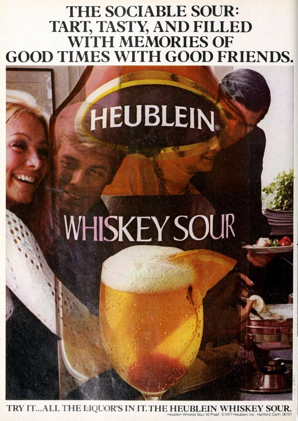 Retro 70s Heublein Whiskey Sour drink mix (1977)