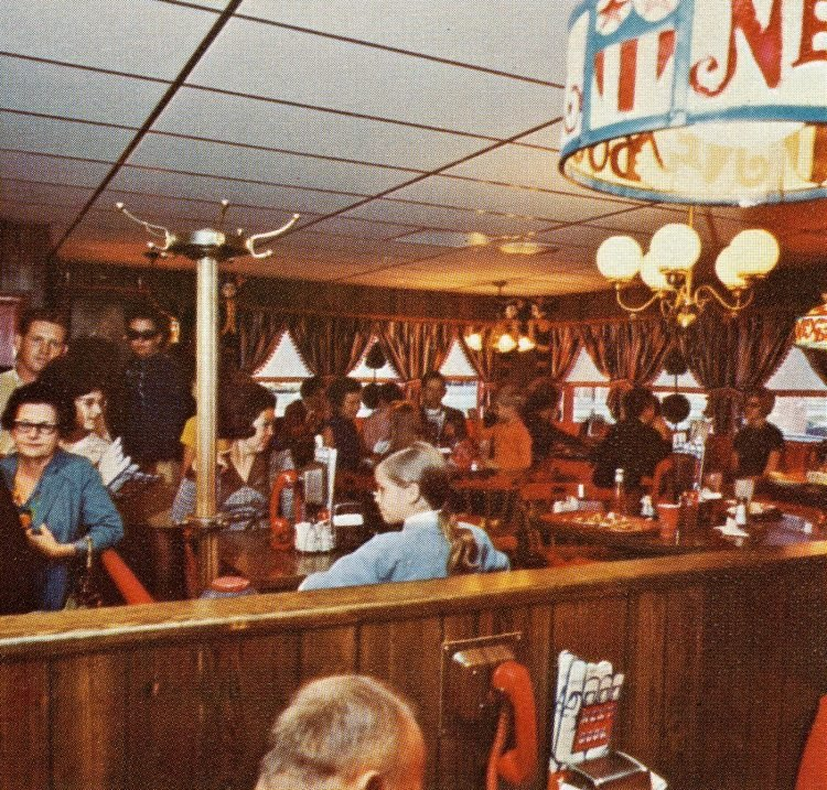 Retro 70s Next Door restaurant chain