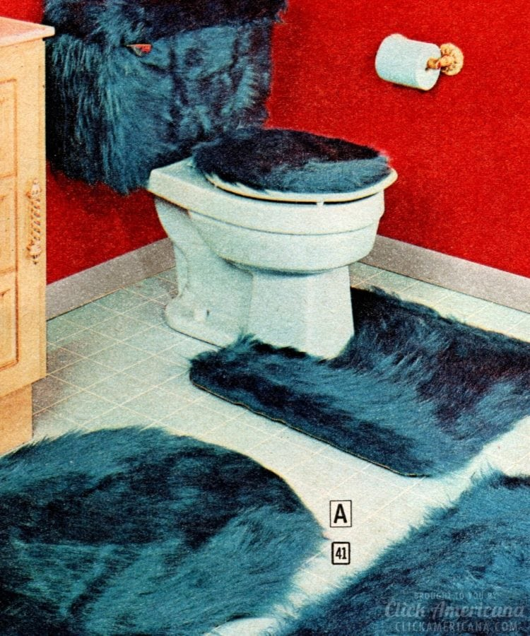 A blue pelt for your bathroom?