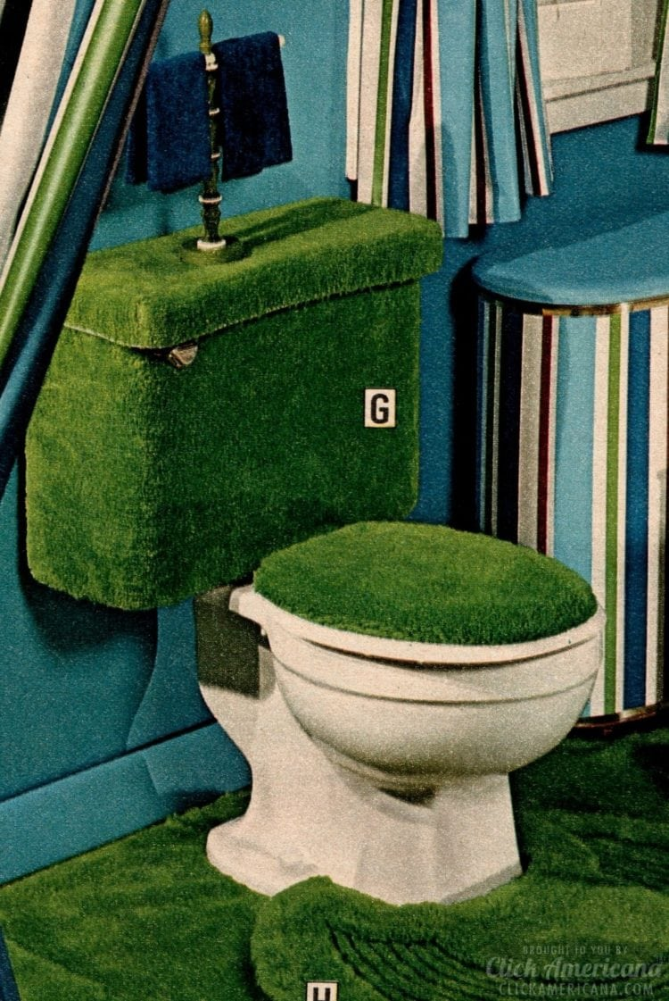 Astroturf green toilet covers