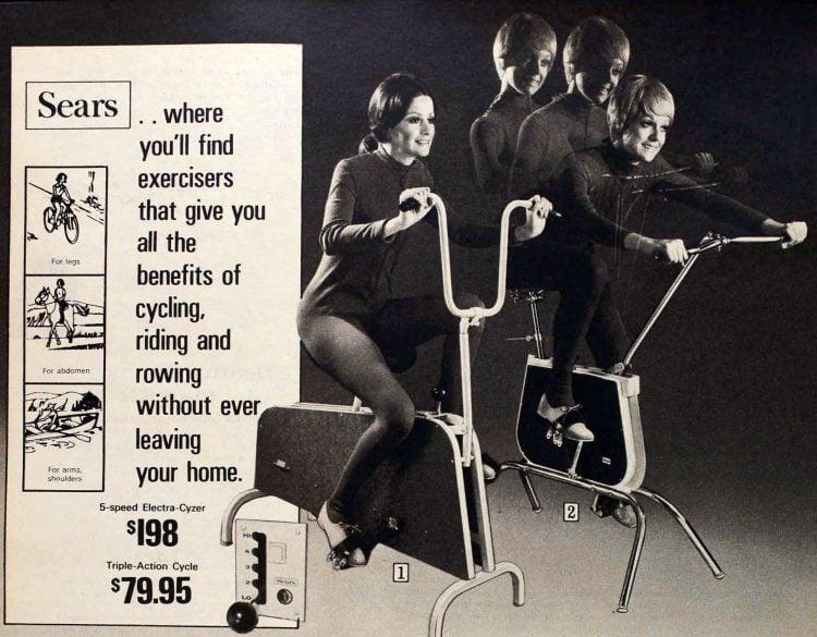 Retro 70s exercises machine from 1971