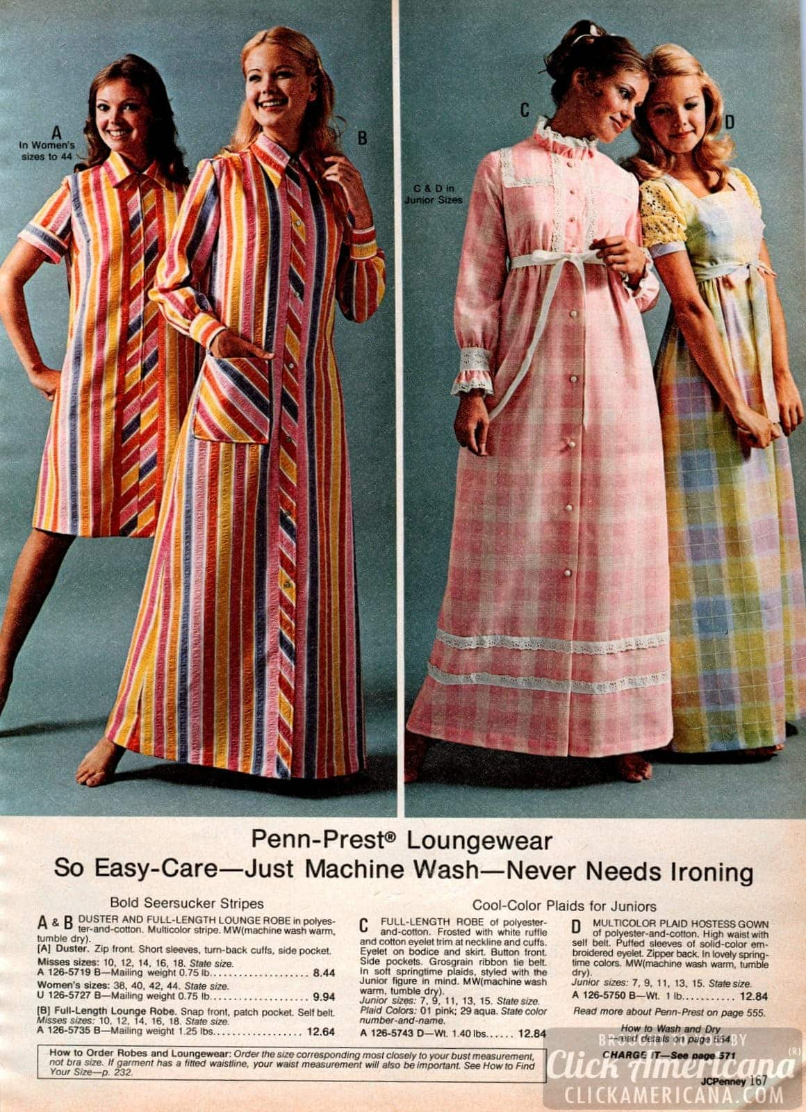Retro 70s sleepwear for women (1)