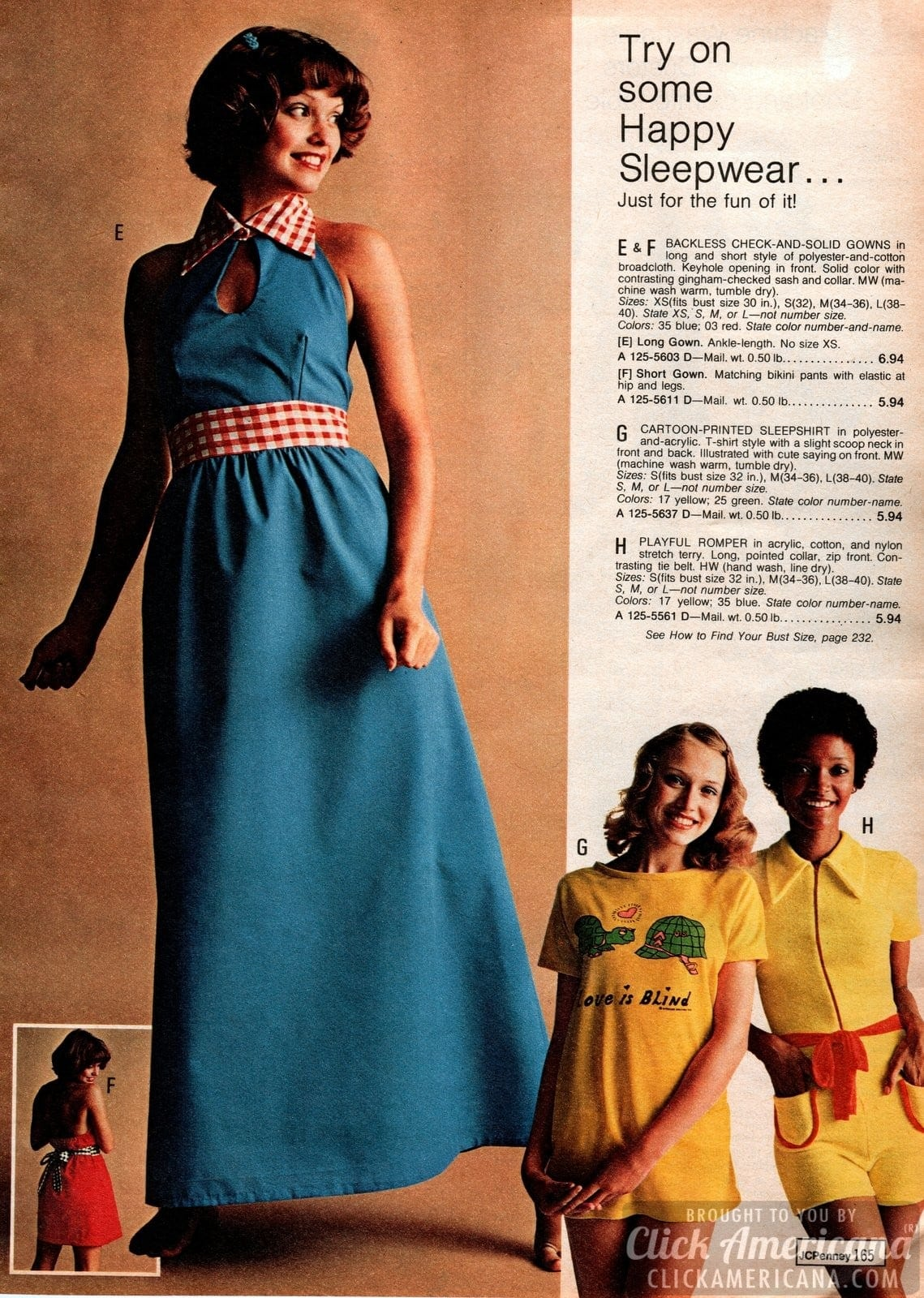 Retro 70s sleepwear for women (3)