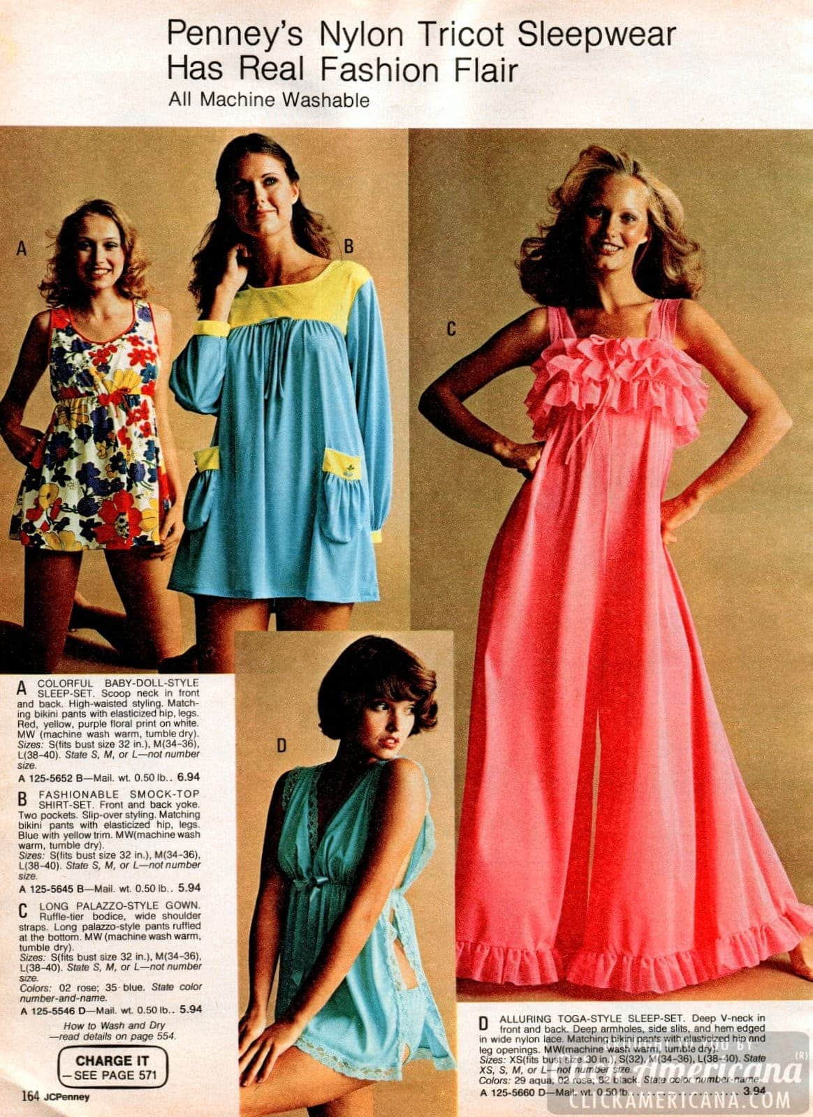 Retro 70s sleepwear for women (4)