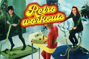 Retro 70s workouts and exercise equipment