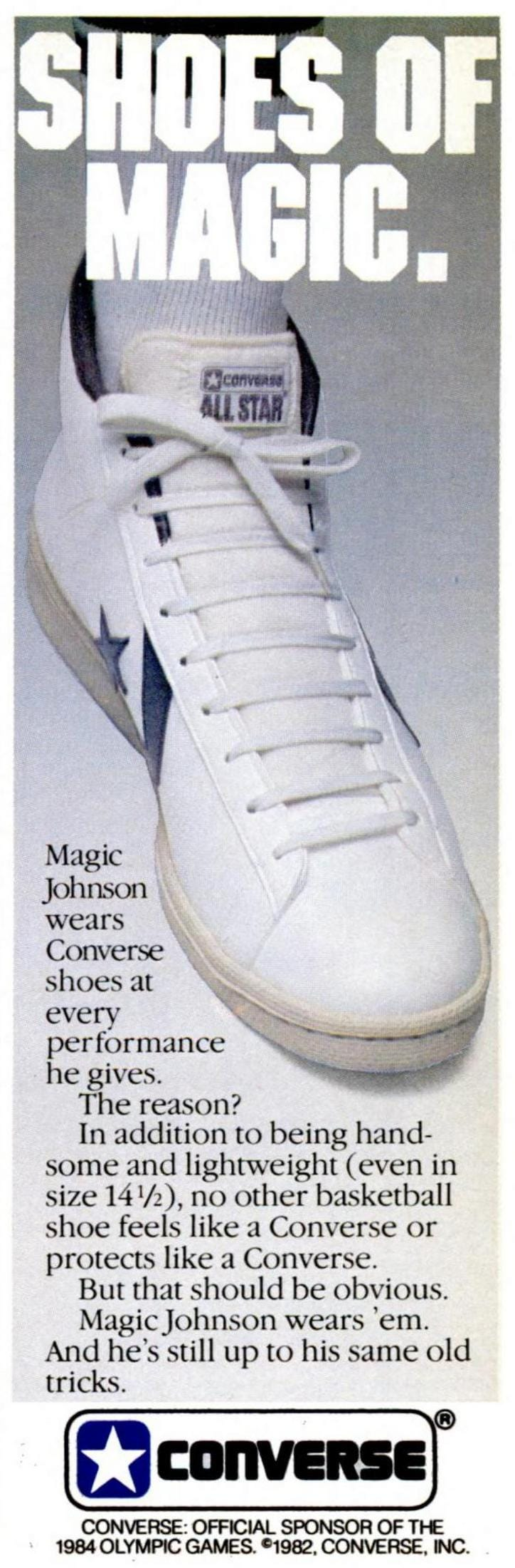 Retro 80s Converse shoes of magic - 1984