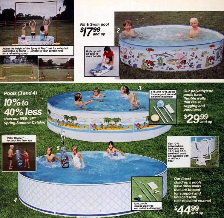 Retro 80s DIY swimming pools for kids