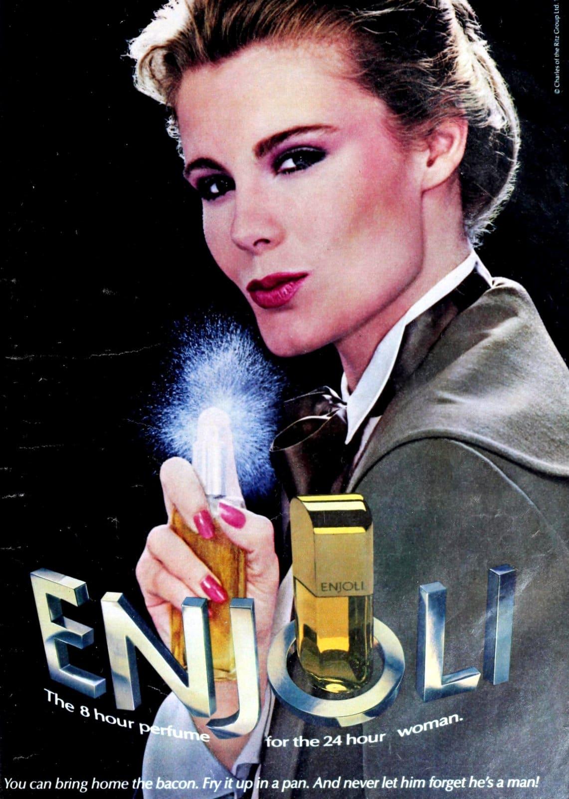 Retro 80s Enjoli perfume (1983)