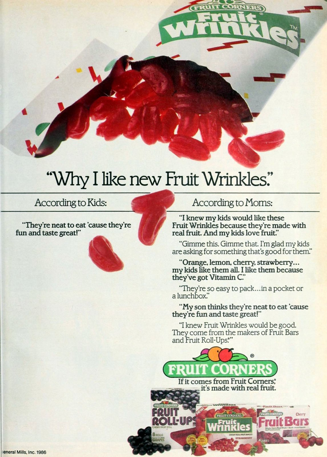 Retro 80s Fruit Wrinkles snack treat (1986)