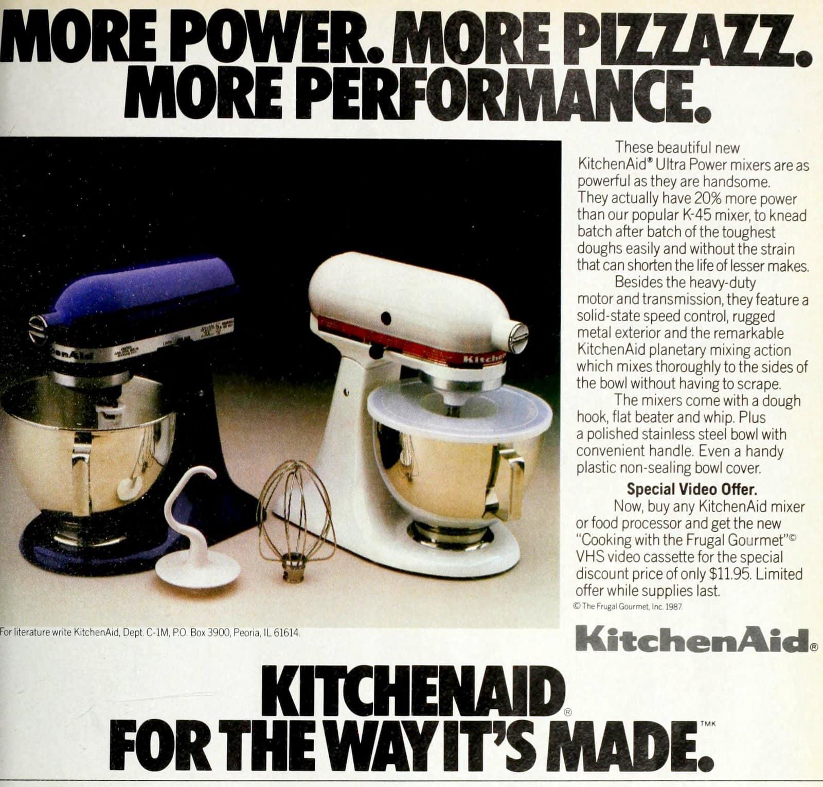 Retro 80s Kitchenaid stand mixers (1987)