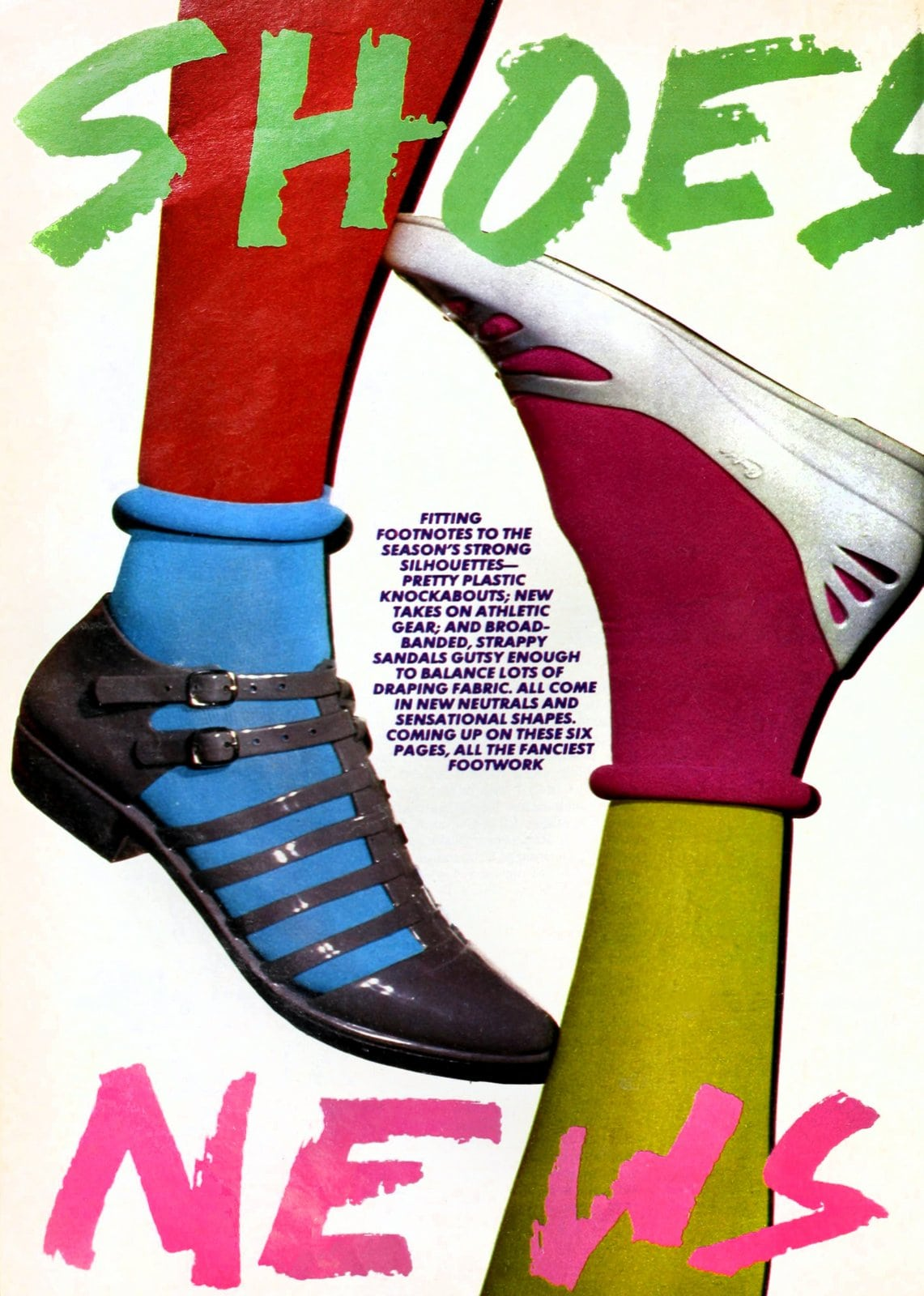 Retro 80s jelly sandals and ballet flats (1984)