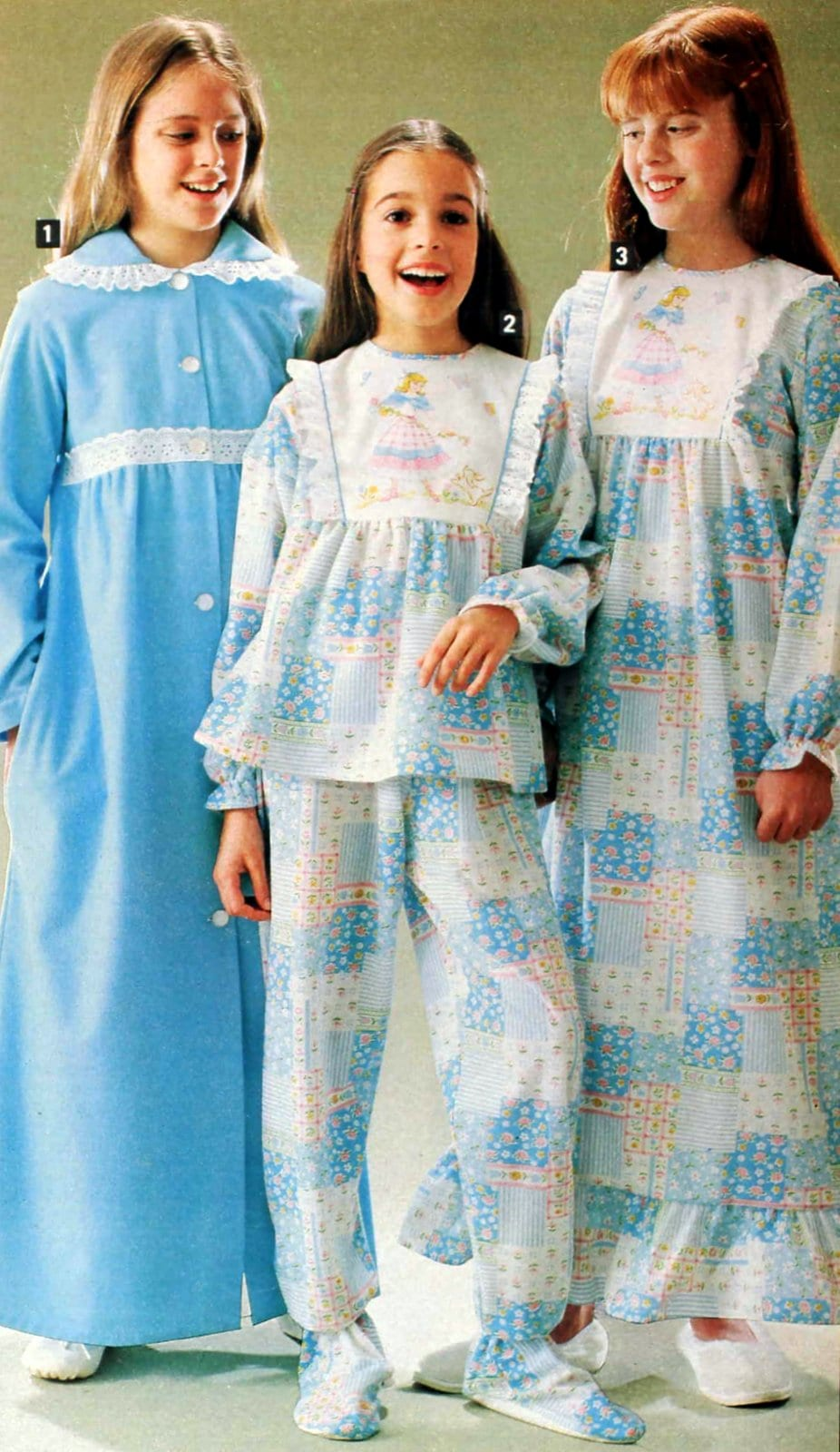 Retro 80s nightgowns and PJs for girls