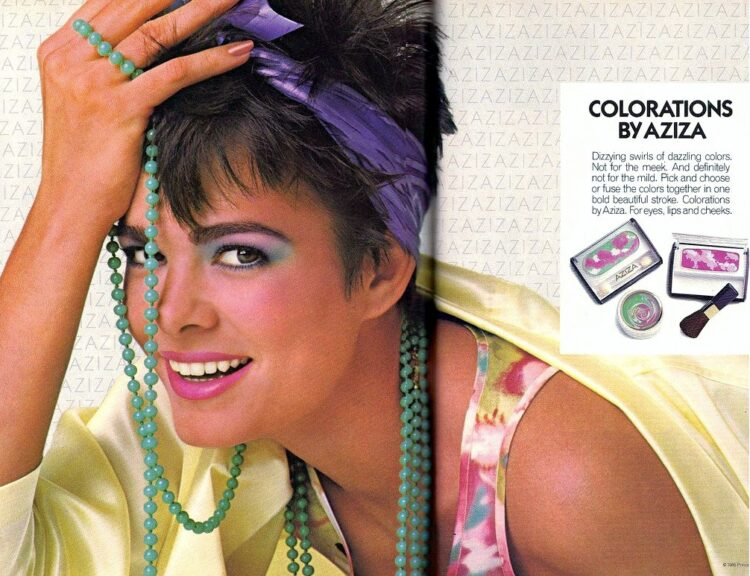 Retro 80s rainbow eyeshadow 1986