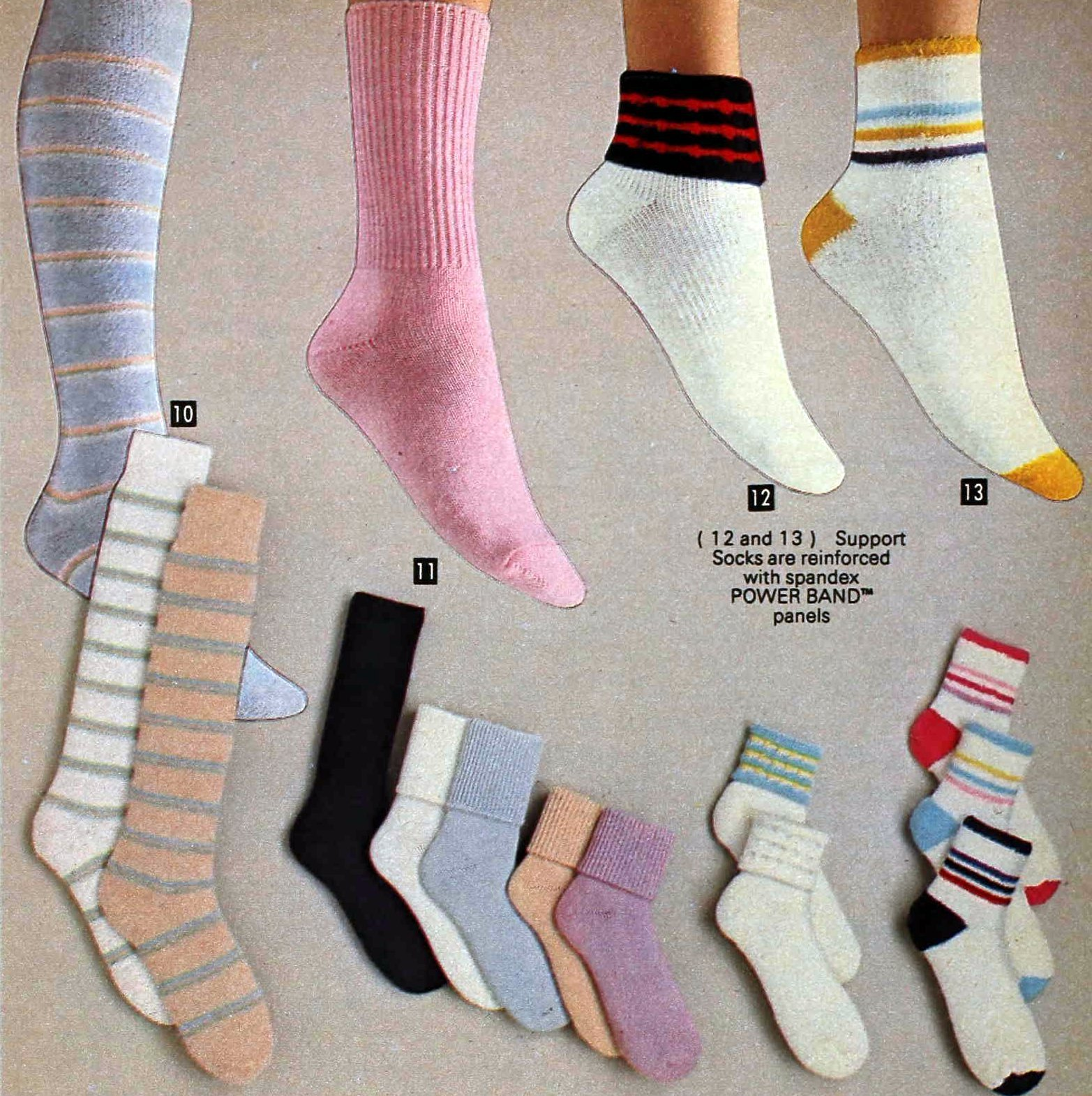 Retro 80s socks for girls from 1982