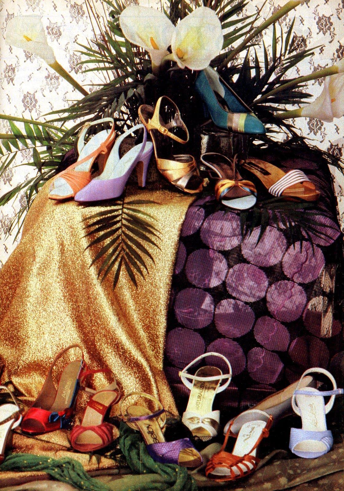 Retro 80s womens shoe display (1982)