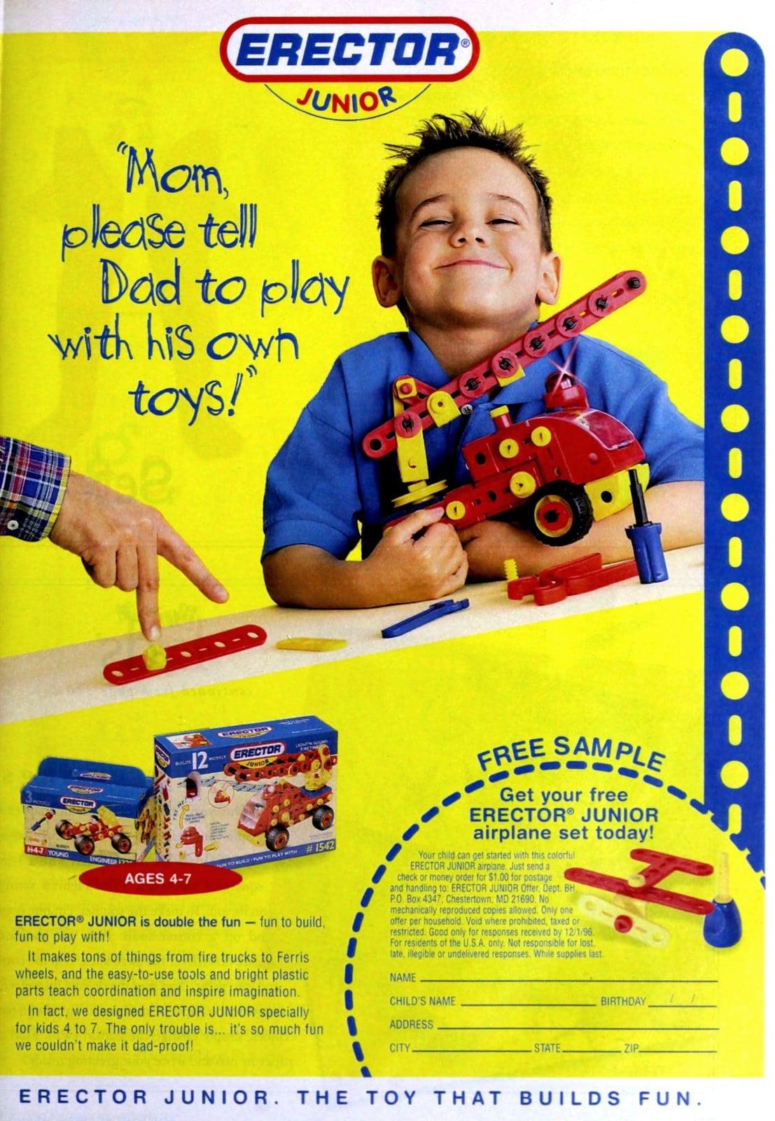 Retro 90s Erector Junior toy set (1996)