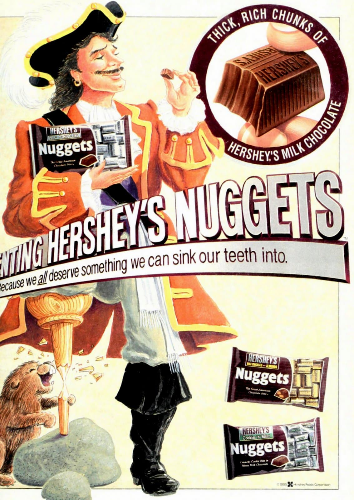 Retro 90s Hershey's Nuggets chocolate candy (1995)