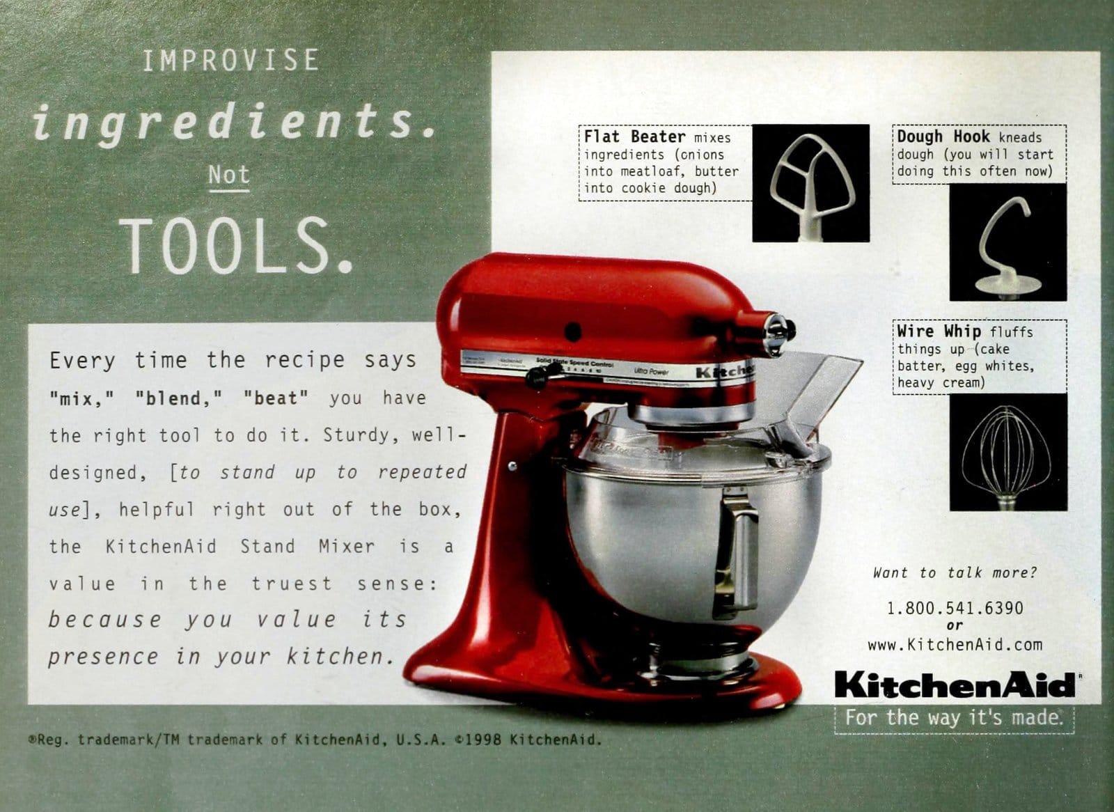 Retro 90s Kitchenaid stand mixers (1998)
