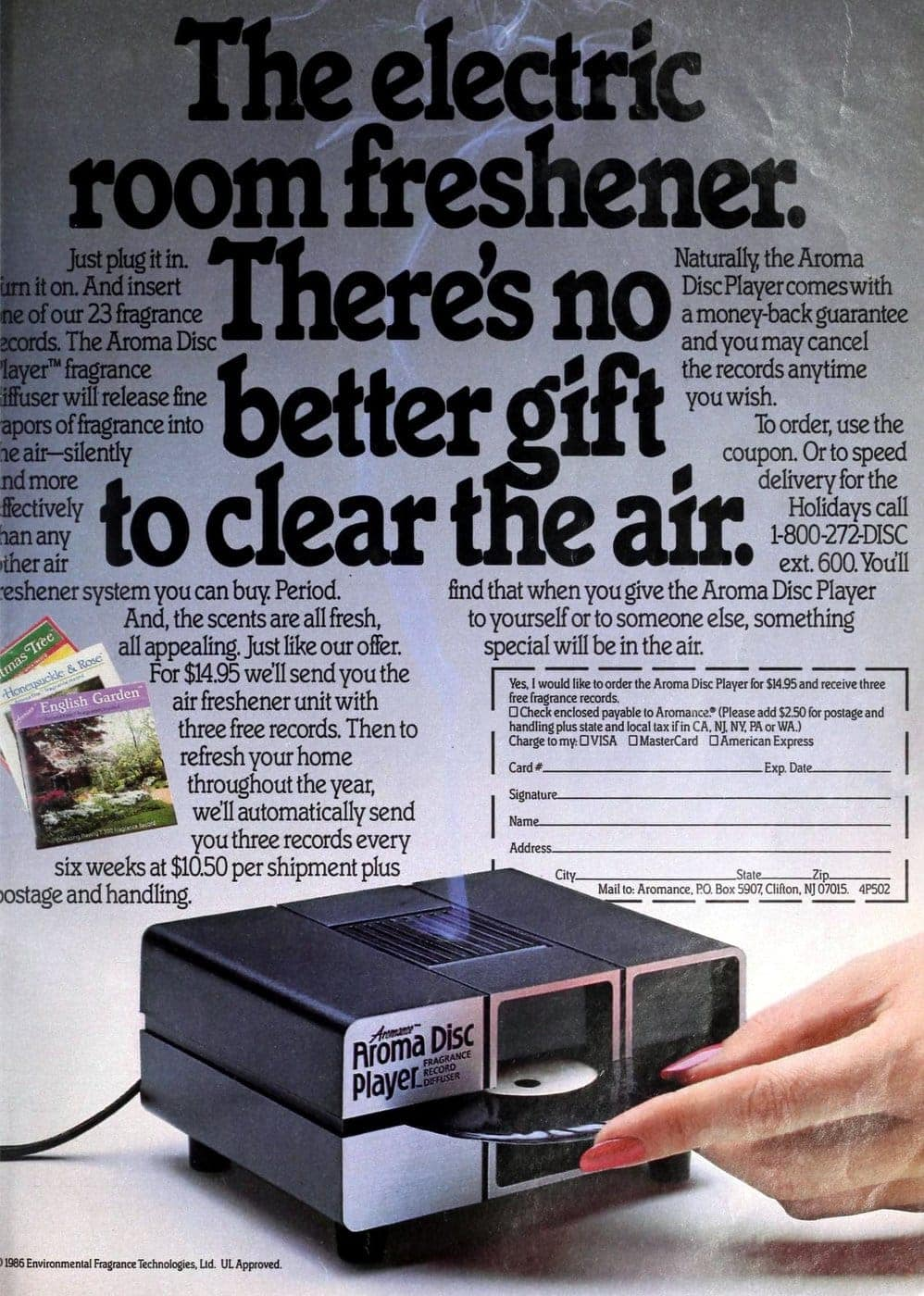 Retro Aroma Disc machine from 1986