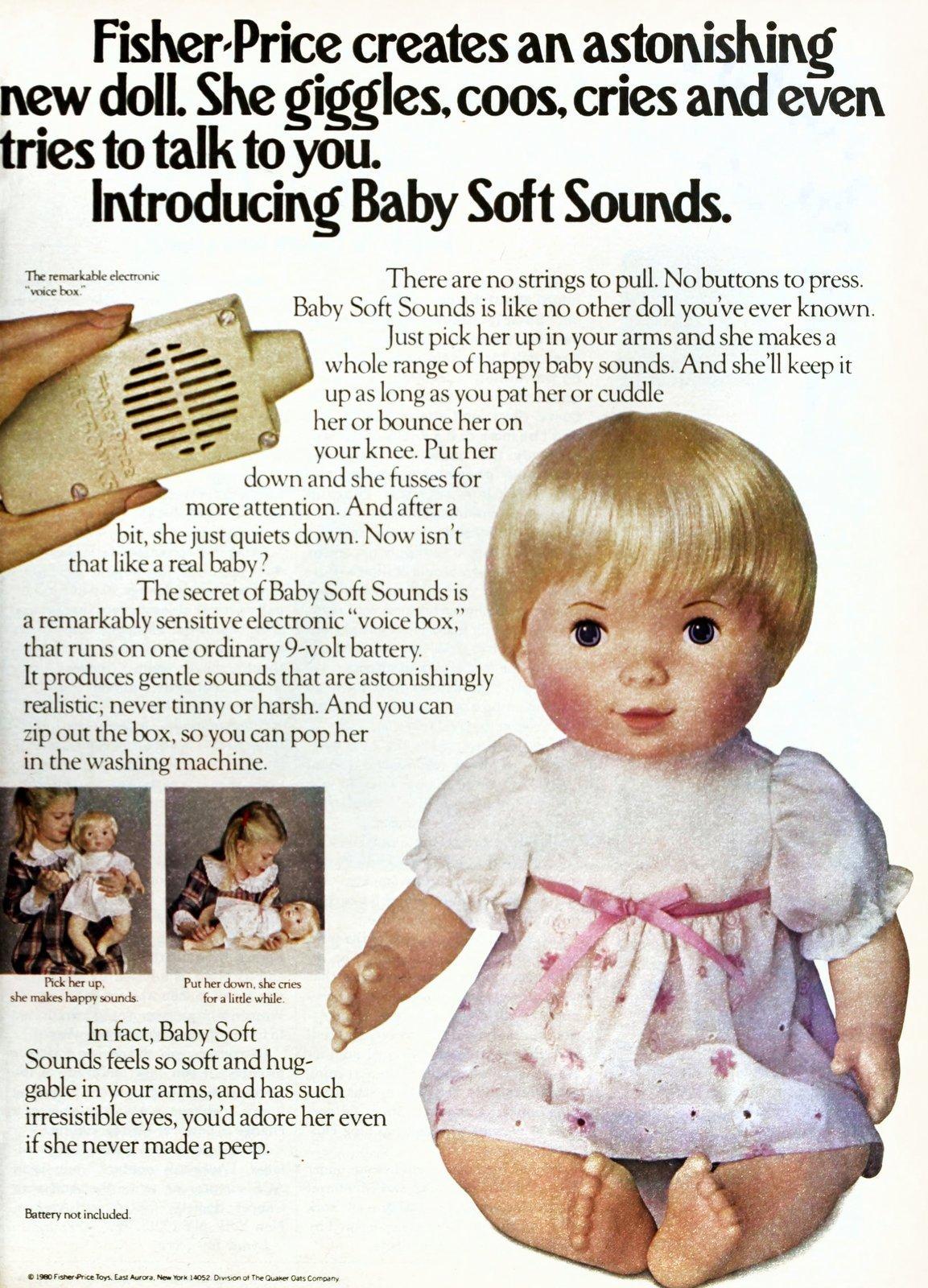Retro Baby Soft Sounds doll (1980)