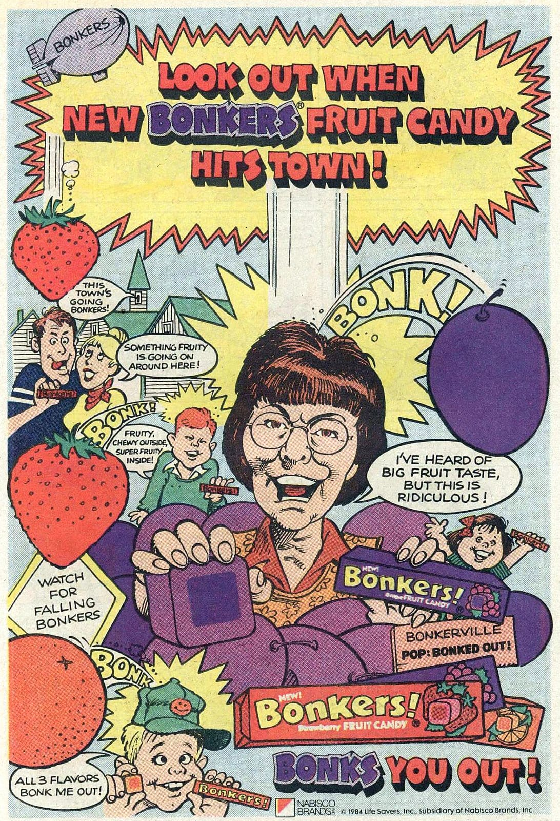 Retro Bonkers fruit candy (1986)