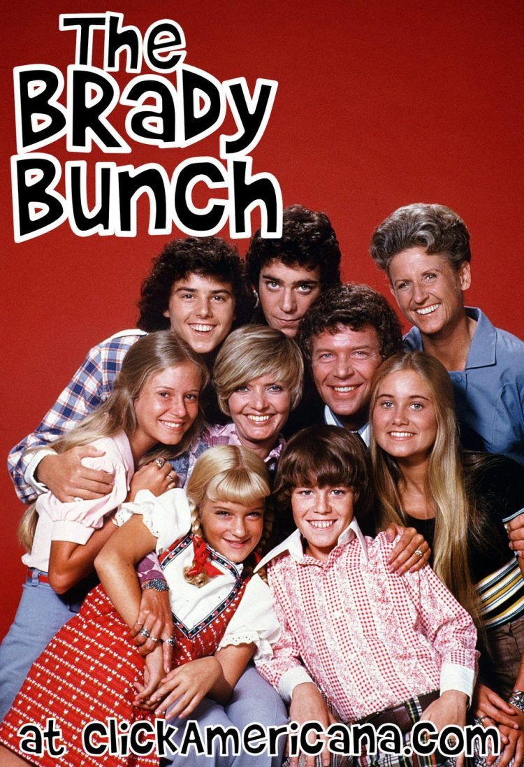 Retro Brady Bunch promo photo - Tv show cast