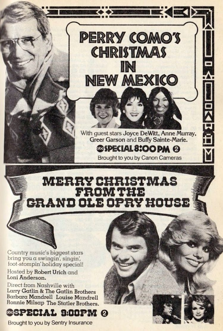 Retro Christmas TV specials from 1979 - Grand Ole Opry House and Perry Como