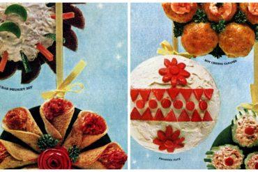 Retro Christmas appetizer recipes from 1965