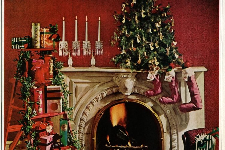 Christmas Home Decor.Deck The Halls With Lots Of Homemade 60s Style Christmas