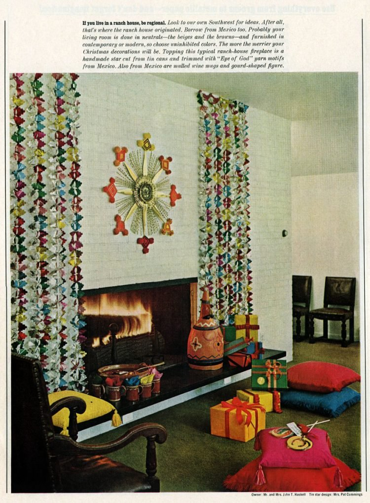 Retro Christmas home decor from the sixties (4)