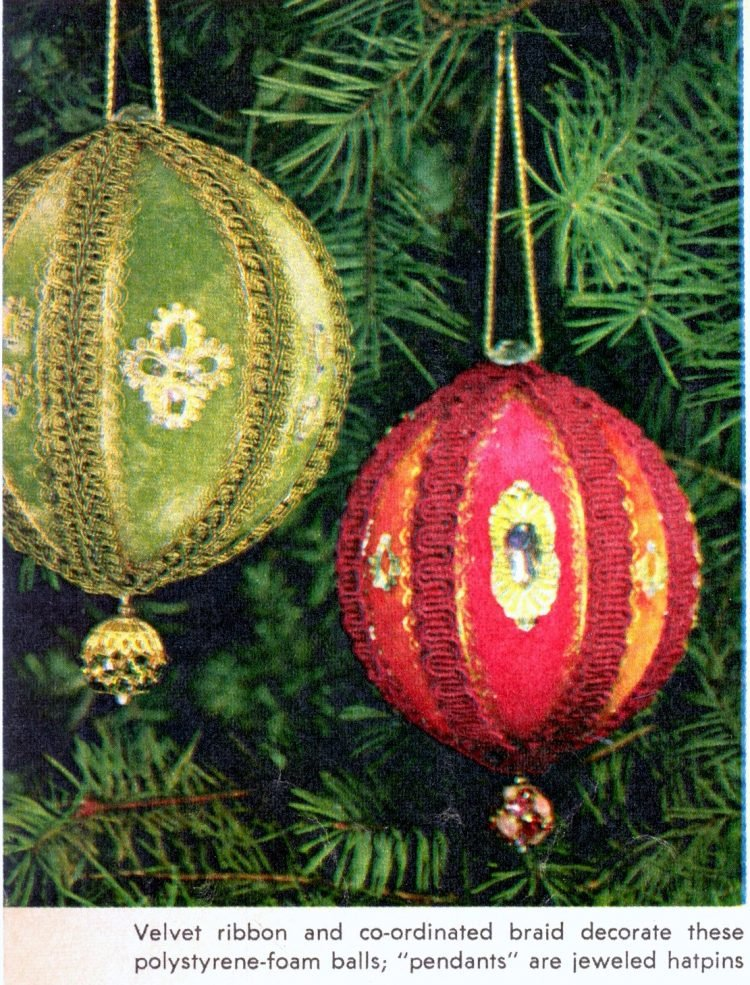 Retro Christmas ornament crafts from 1964 (2)