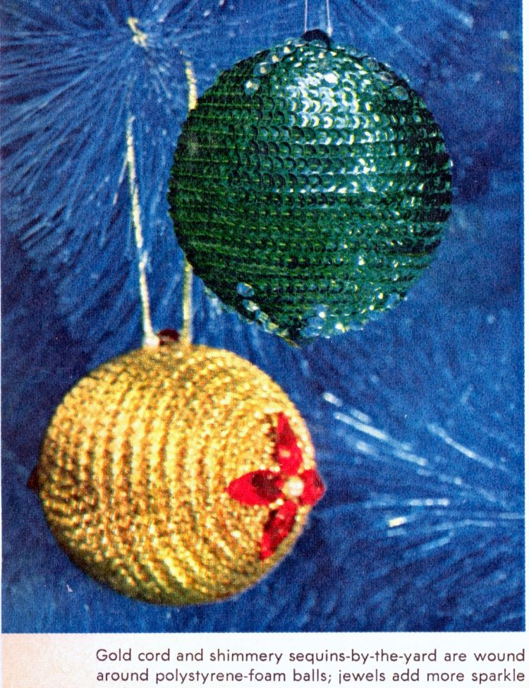 Retro Christmas ornament crafts from 1964 (3)