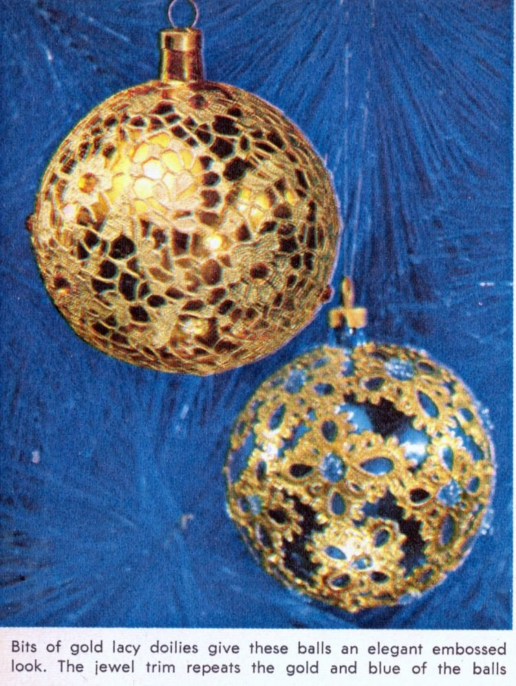 Retro Christmas ornament crafts from 1964 (5)